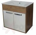 Ormar za kupatilo donji deo konzolni LEON 71 cm i lavabo SLIM 35-925