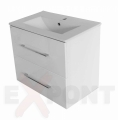Ormar za kupatilo FIT donji deo konzolni 60x40 cm i lavabo SLIM 35-351