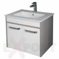 Ormar za kupatilo KARAMEL donji deo konzolni 71x50 cm i lavabo SLIM